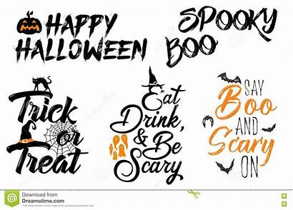 Sayings Halloween Clipart Quotes Dreamstime Saying Elements