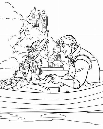 Rapunzel Coloring Disney Pages Princess Flynn Tangled