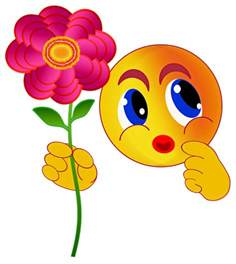 Emoticon Smiley with Flowers