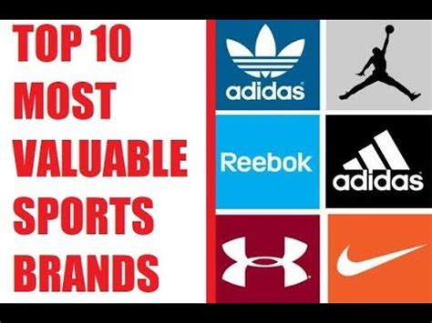 Top 10 Most Valuable Sports Brands  Top Sport Brands List