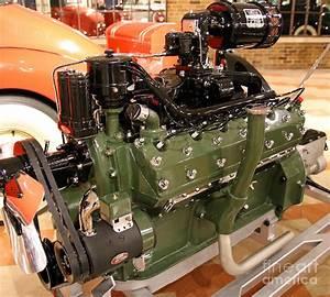 1938 Packard 12 Engine Photograph By Steve Gass
