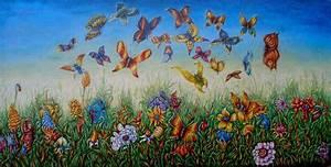 Blumen Gemälde In öl : bild blumen gem lde phantasie schmetterling von marcin ~ A.2002-acura-tl-radio.info Haus und Dekorationen