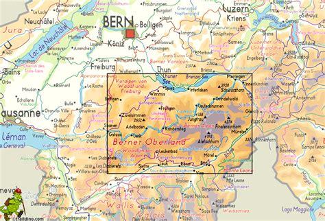switzerland map bernese oberland