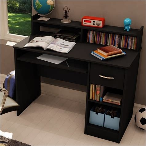 small student desk with hutch south shore axess small wood computer desk with hutch in