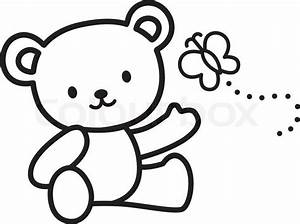 Stock vector of 'Illustration of Very Cute Teddy Bear with ...