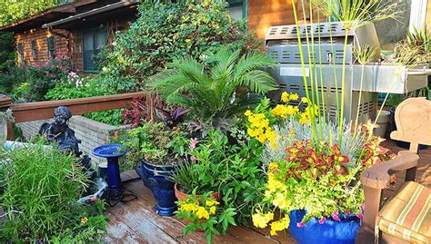 deck gardening containers south central gardening diy container drip watering system