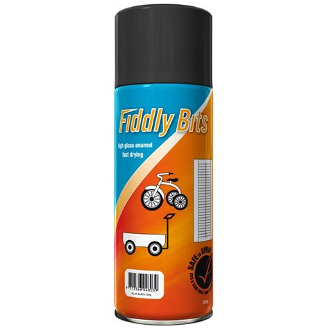 Fiddly Bits 250g Spray Paint  Flat Black  Bunnings Warehouse