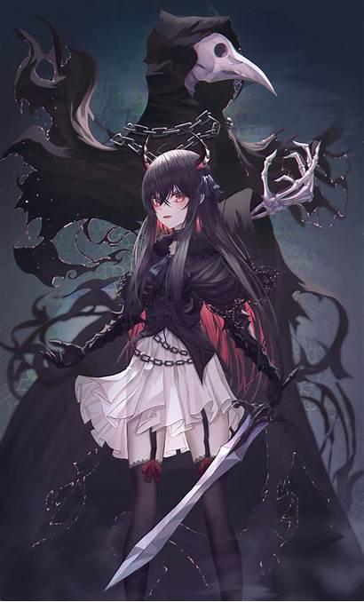 Anime Reaper Pixiv Grim Zerochan Shinigami Board