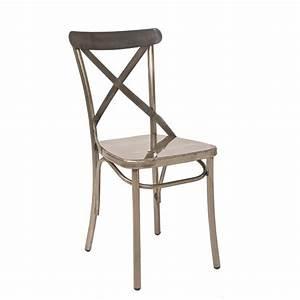 Chaise Bistrot Metal : chaise bistrot tout metal 21 couleurs au choix cmg 15322 one mobilier ~ Teatrodelosmanantiales.com Idées de Décoration