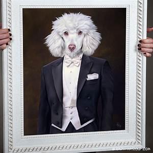 Pop Art Kleidung : pudel im anzug pudel in kleidung geschenk bild kaufen gem lde stil ~ Indierocktalk.com Haus und Dekorationen