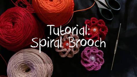 crochet tutorial merajut  pemula membuat spiral