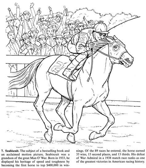 horse coloring page   famous seabiscuit horse coloring pages horse coloring books