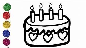 Dessin Gateau Anniversaire : dessiner un g teau d 39 anniversaire pour b b coloriage ~ Melissatoandfro.com Idées de Décoration