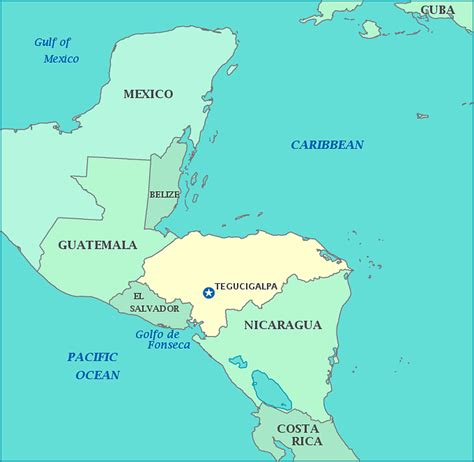 honduras map travelsfinderscom