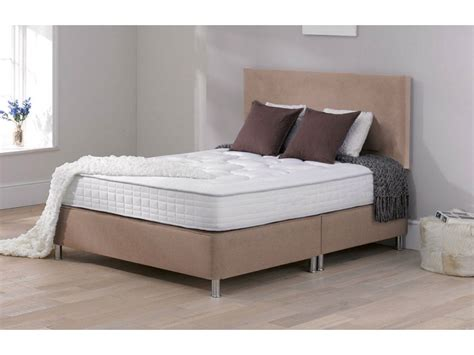 Divan Beds With Headboards by Low Fabric Divan Memory Foam With Headboard