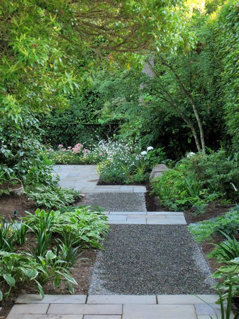 gravel garden paths paver and pebble garden path home decorations idea