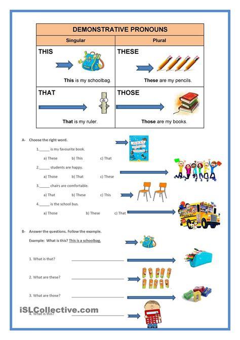demonstrative pronouns teaching 1st grade in 2018