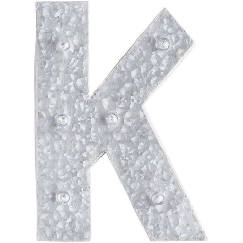 pier  imports led galvanized metal monogram letter     polyvore featuring home