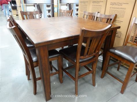 costco dining table in store regal living chandler 9 piece counter height dining set