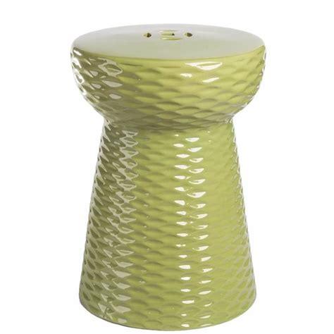 abbyson living lavenda ceramic garden stool in lime green