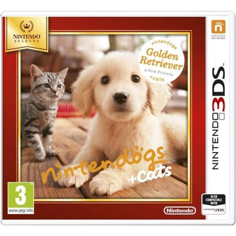 nintendo selects nintendogs cats golden retriever