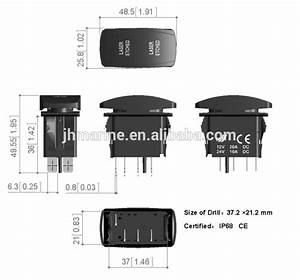 Daystar Products Jeep Wrangler 97-10 Tj  U0026 Jk Lighted Rocker Switches For Switch Panels