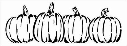 Halloween Stencil Fall Pumpkins Row Stencils Wood