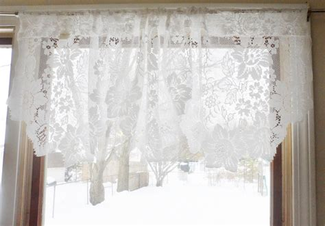 Jc Penney Curtains Valances by Vintage Shabby Floral Chic White Lace Jc Penney