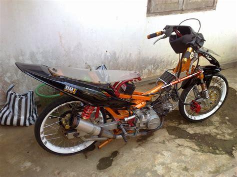 Modifikasi Honda Supra Drag Racing Look Modifikasi Honda