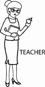 Teacher Coloring English Apple Wecoloringpage sketch template