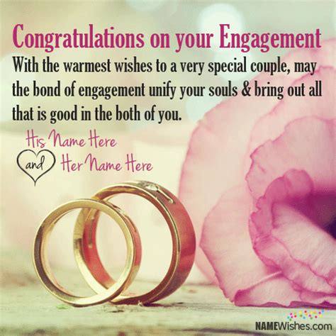 engagement wishes  couple names