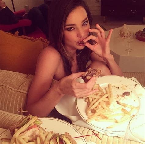 Hold Everything Miranda Kerr Is Sitting Naked Eating