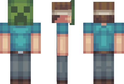 Creeper Mask Minecraft Skin