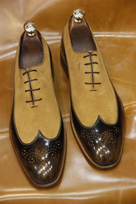 Handmade Special Design Luxury Brown Mens Shoes