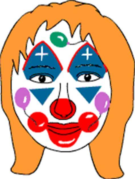 schminken clown vorlage schminken im kinderfasching