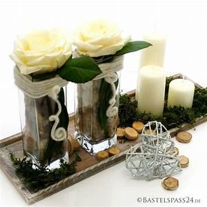 Landhaus Deko Selber Machen : tischdeko selber machen mit rosen und glasvasen landhaus basteln mit ~ Whattoseeinmadrid.com Haus und Dekorationen