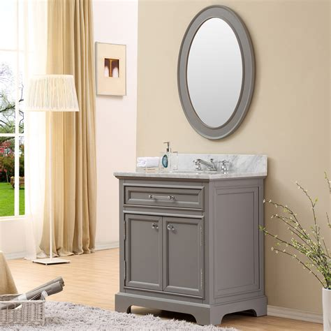 Carenton 30 Inch Traditional Bathroom Vanity Gray Finish