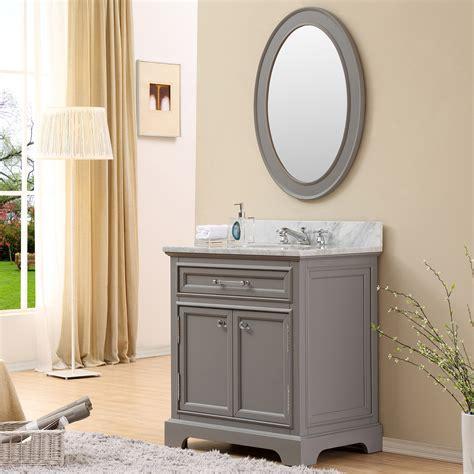 Carenton 30 Inch Traditional Bathroom Vanity Gray Finish