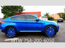 AceWhipsNET Blue BMW X6 on 28