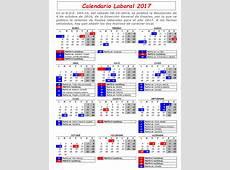 Calendario laboral 2017 Feccoocyl