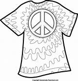 Clipart Dye Tie Coloring Pages Peace Shirt Printable Shirts Template Sign Clip Colors Google Celebrate Birthday Fun Printables English 70s sketch template