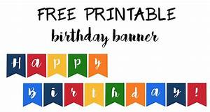 Happy Birthday Banner Free Printable - Paper Trail Design