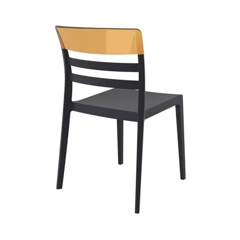 chaise en polypropylène chaise moderne empilable en polypropylène et polycarbonate