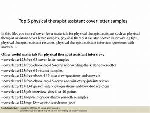 Cover Letter For Learning Support Assistant Top 5 Physical Therapist Assistant Cover Letter Samples
