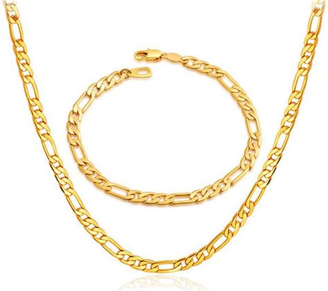 36 gold chain buy 18k gold plated never fade chunky figaro necklace