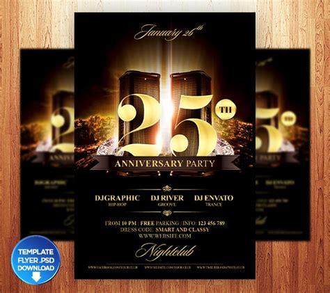 anniversary flyer design psd  design trends