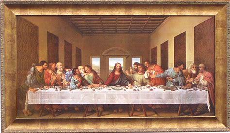 Da Vinci The Last Supper Custom Framed Canvas Replica X
