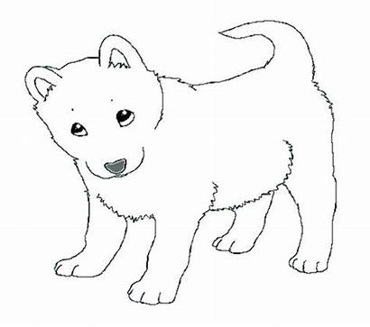 Husky Coloring Pages Puppy Realistic Siberian Drawing