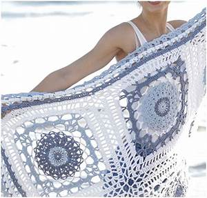 Porcelain Crochet Blanket With Lace Squares  Free Pattern