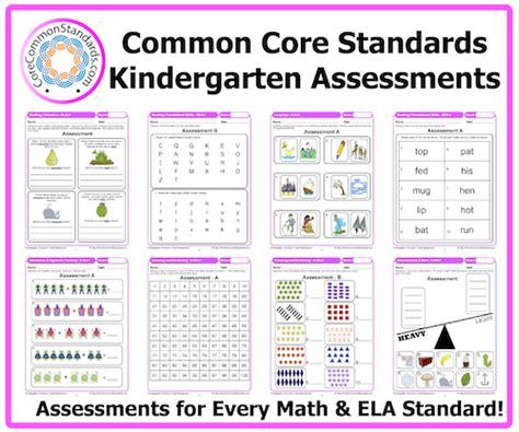 kindergarten common assessment workbook 489   kindergarten common core assessments